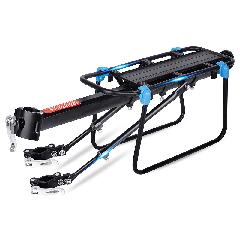 AOXIN Bicycle Luggage Carrier Cargo Rear Rack High-quality aluminum alloy material Quick installation step for a bicycle