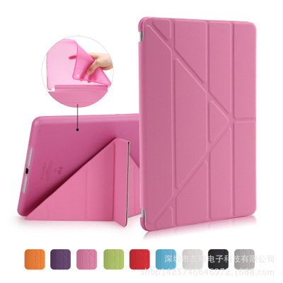 For Apple iPad Air 2 Smart PU Leather Case Multi Shapes Folding Case for iPad air 1 TPU Back Cover Auto Wake Up Sleep + stylus ultra thin for ipad air 2 case pu leather smart stand cover universal auto sleep wake up flip 9 7inch case for ipad air 1 2
