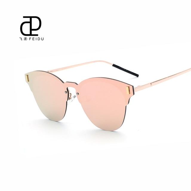 5c1d3634127e FEIDU Cat Eye High Quality Sunglasses Women Brand Designer Coating Mirror Sun  Glasses For Men Eyewear