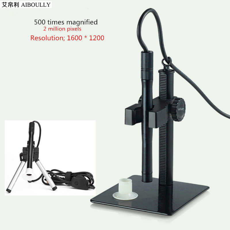 AIBOULLY 500 times HD <font><b>USB</b></font> Electronic <font><b>Microscope</b></font> Digital Magnifier ENT Gynecological Diagnostic Tool Skin oral treatment image