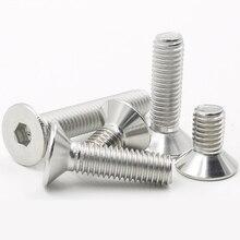 Hex Flat Machine Screws Metric Threaded Countersunk Metal Hexagon Head Bolt Set 304 Stainless Steel M2 M2.5 M3 M4 все цены