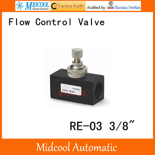 RE-03 One-way throttle valve pneumatic flow control valve port 3/8 BSP hydraulic pump double throttle check valve flow valve z2fs22 30b stack valve