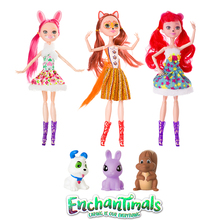 3 Style  New Enchantimals Girl Doll Toy Bjd Dolls Natural Friend Collection Joint Body Children Christmas Gift Anime Figure Toy nicery 16inch 40cm bjd ball joint doll girl doll full high vinyl christmas toy gift for children two dolls sweater coat