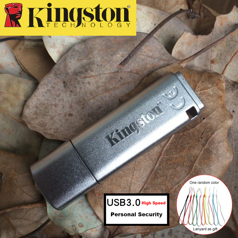 Kingston USB Flash Drive 16GB USB 3.0 Metal Pendrive Personal Security usb Drive High Speed Memoria Stick cle usb 16gb Pen Drive usb flash drive 16gb sony usm16sa2