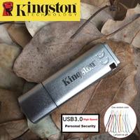 Kingston USB Flash Drive 16 GB USB 3.0 Pendrive De Metal de Segurança Pessoal Drive usb Memoria Vara cle usb 16 gb Pen Drive de Alta Velocidade