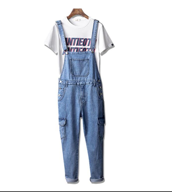 La Pantalones Hombres Pequeña Japonés Trajes Retro Azul Tendencia Masculinos Mezclilla Coreana De Versión Siameses xfB4fzw