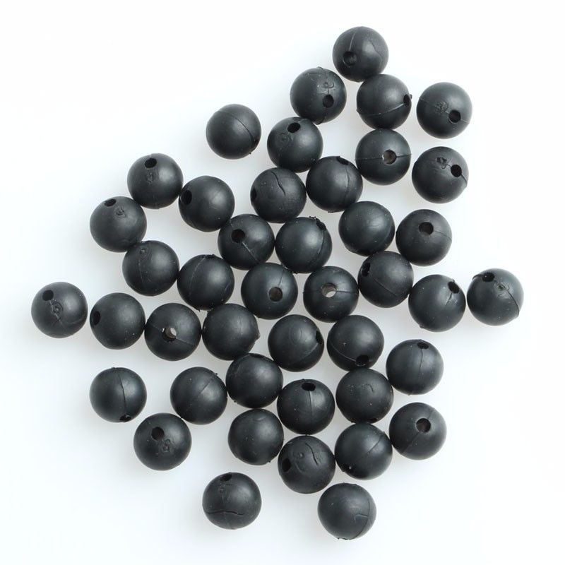 50pcs 8mm Carp Fishing Rubber Shock Beads Terminal End Tackle Stop Accessories