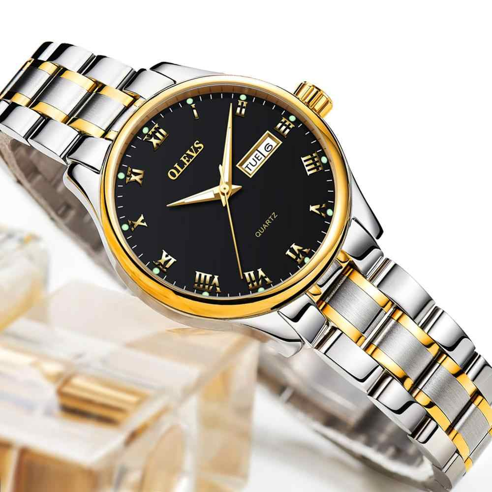 אישה שעון 2019 מותג יוקרה נירוסטה גבירותיי שעון תאריך זוהר קוורץ נשים שעונים עור גברת עמיד למים שעוני יד