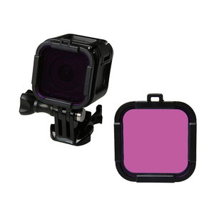 Image 3 - Waterproof Dive Filter 4 Color Diving Filter Red Purple Yellow Gray Lens Cap Lens Protector for Gopro Hero 4 Session 5 Session