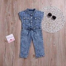 229890855b1 Kinder Kid Mädchen Bowknot Jeans Denim mode Overall Casaul Kleidung infant  mode mädchen jungen kleidung baby kostüme