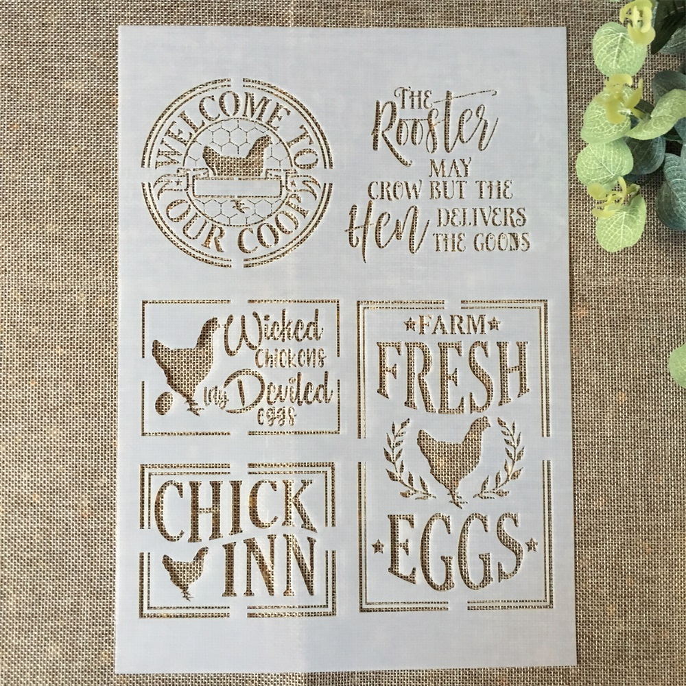 29*21cm Chicken Eggs DIY Layering Stencils Wall Painting Scrapbook Coloring Embossing Album Decorative Paper Card Template