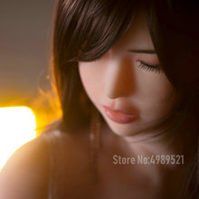 160cm close eyes Real Sex Robot Dolls Huge Breast Japanese full body real silicone lifelike love doll with metal skeleton,
