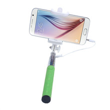 3.5mm Jack Cable Selfie Stick Mini Extendable Fold Self-portrait Stick Monopod Camera Shutter with Adjustable Phone Holder Dec6