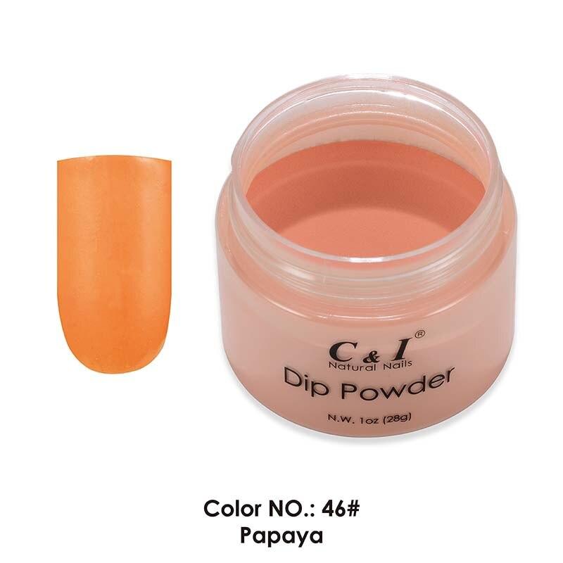 Schönheit & Gesundheit Obligatorisch 28g Tauch Pulver-farbe No 46 # Papaya-gelb Farbe System-französisch Spitze Nagel & Dip Maniküre Acryl Puder & Flüssigkeiten