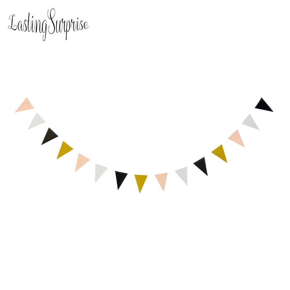 Duradera sorpresa negro blanco bandera de oro pancartas glitter papel - Para fiestas y celebraciones - foto 6