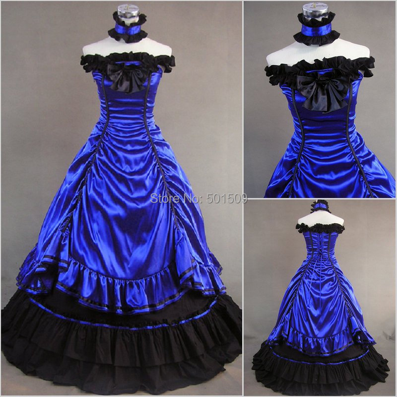 Robe princesse bleu adulte