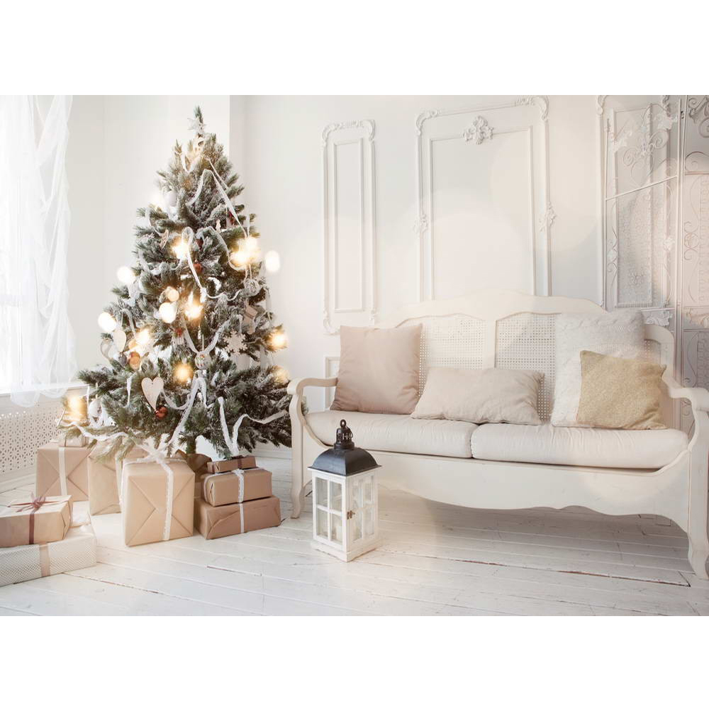 Hot Sale Indoor Christmas Background Photography Printed Sofa Xmas ...