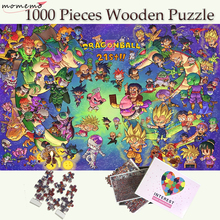 MOMEMO Kawayi Dragon Ball Puzzle Jigsaw 1000 Pieces Wooden Puzzles for Adults Games Toys Cartoon Pattern Kids