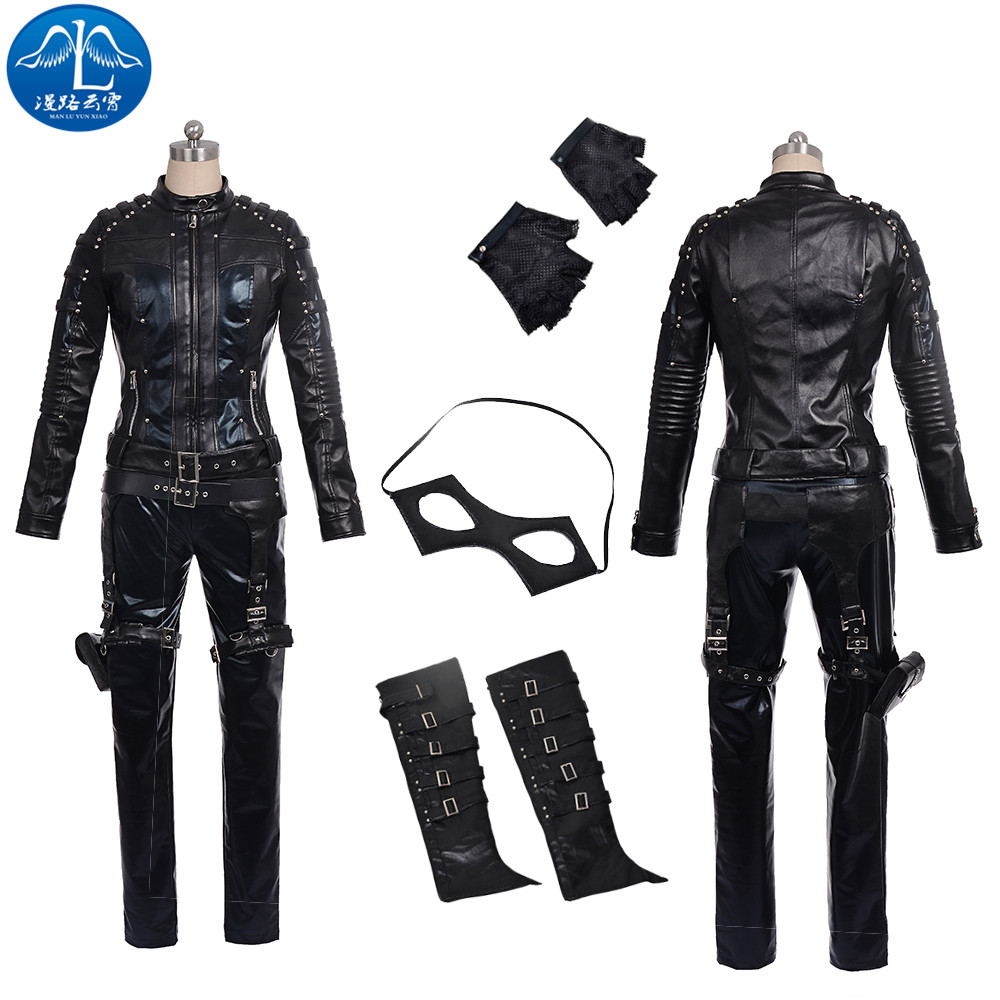 ManLuYunXiao Cosplay Costume Dinah Laurel Lance Cosplay Arrow Black Cosplay Women's Jacket Custom Made Free Shipping