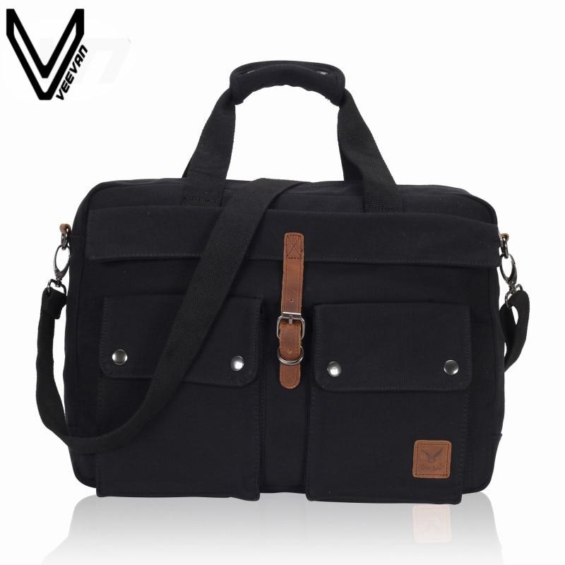 491f9989d343 VN 2016 Новая Мода Бизнес Для мужчин Курьерские сумки черный Сумочка для  человека Винтаж холст Портфели Для мужчин ноутбук Кроссбоди сумка