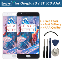 LCD Screen for Oneplus 3 3T LCD Display for Oneplus 3 3T A3000 Touch Screen Assembly With Frame Touch Digitizer Replacement Test