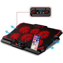 Кулер для ноутбука с 2 USB портами и шестью вентиляторами, охлаждающая подставка для ноутбука 12 15,6 дюймов