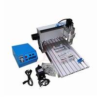 0.8KW 3 оси 6040 ЧПУ гравировка фрезерный станок с VFD водяного охлаждения шпинделя