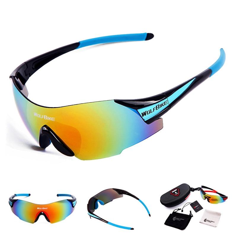 نظارات شمسية للرجال لون اسود مصنوع من - ركوب الدراجات