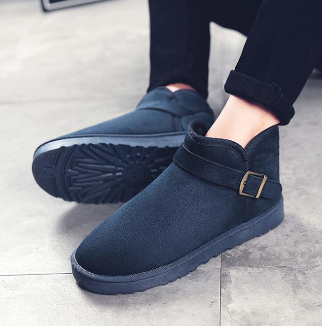Winter boots men's snow boots plus velvet warm cotton boots bread shoes men's casual cotton shoes trend wild men's boots