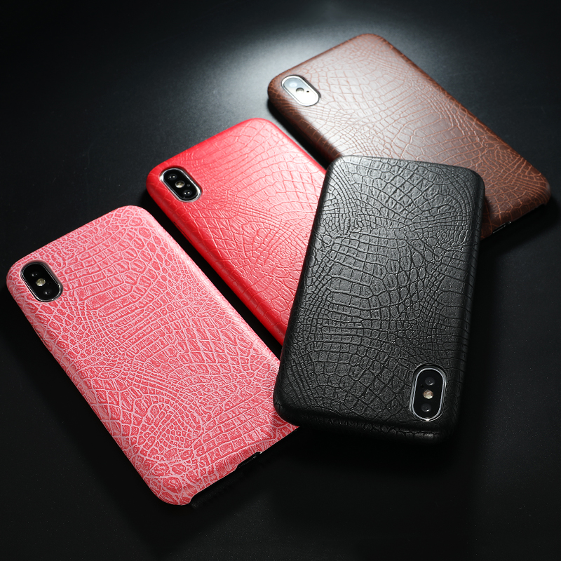 PU Leather Pattern Phone Case for iphone 6 6s 7 8 plus Case Back Cover For iphone X xs max XR Case (3)
