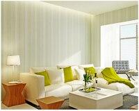 beibehang papel de parede Plain vertical striped yarn wallpaper simple modern non woven background wallpaper papel parede