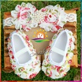 Rosset flower sapato bebe menina baby booties zapatitos bebe botas;Toddler Girl baby boots&headband Shoes set botines 3 set/lot