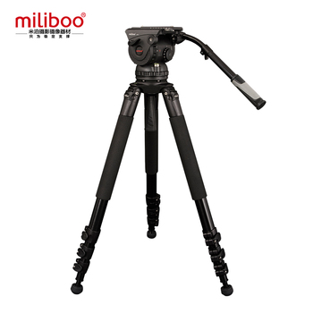 miliboo Professional Broadcast Movie 4-Section Tripod M15L with Hydraulic Fluid Head Load Bearing 18 kg Max Height 207cm
