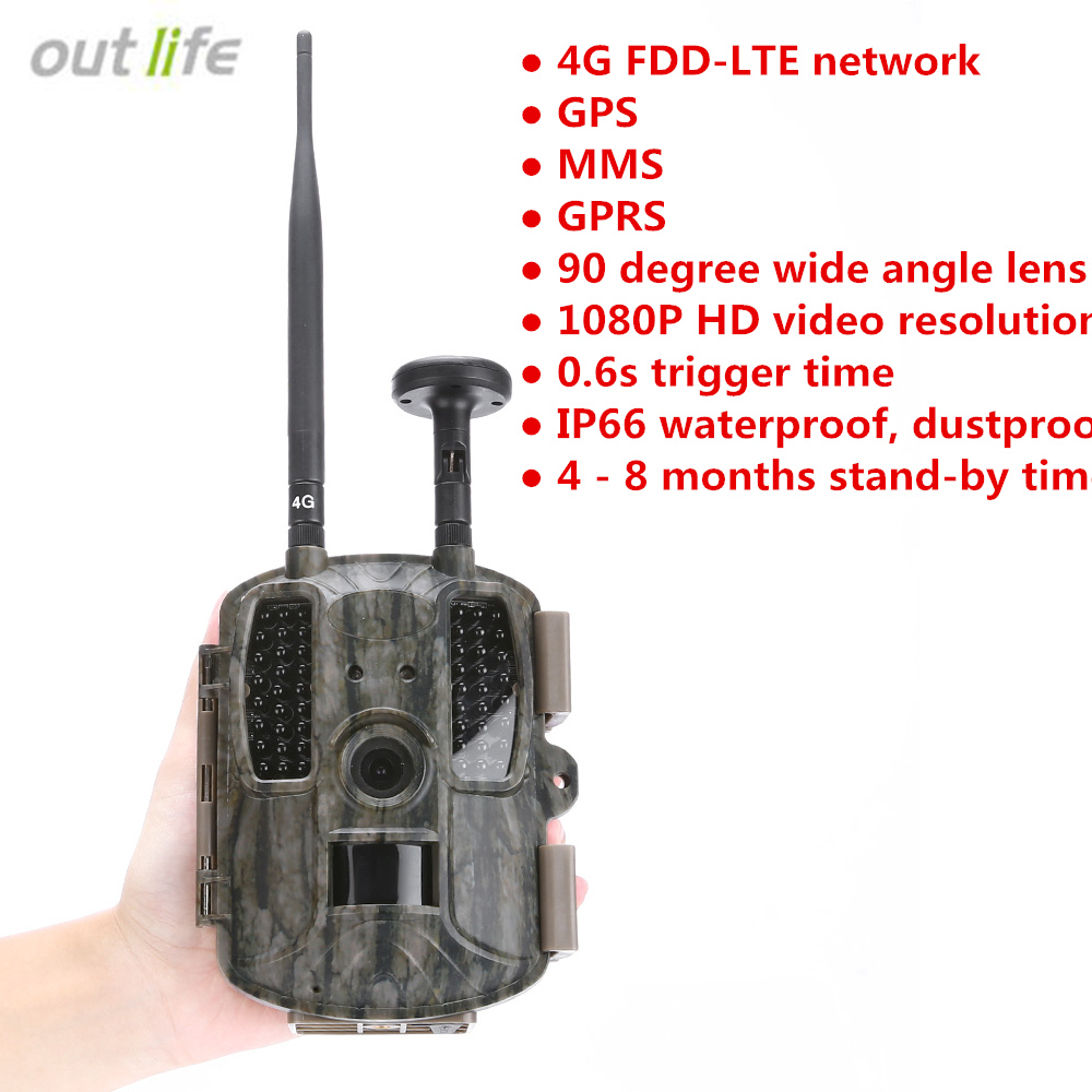 Outlife 12MP caza cámaras Trail 4G GPS MMS GPRS Digital Scouting caza cámara trampa foto trampas cámara de caza