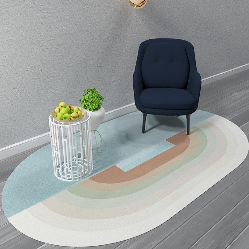 Tapis géométrique nordique salon Table basse en forme de tapis tapis couleur tapis mode personnalité en forme de tapis tapis de sol - 4