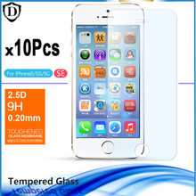 10pcs lot Tempered glass For Apple Iphone 5 5s 5c Explosion Proof Screen Protector For Iphone