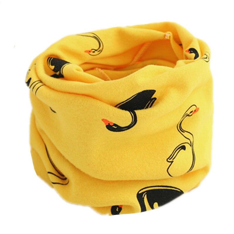 Осенне-зимний детский хлопковый шарф для девочек и мальчиков теплые шарфы Детский круглый кольцевой ошейник Детский шарф детский волшебный шейный платок - Цвет: yellow swan