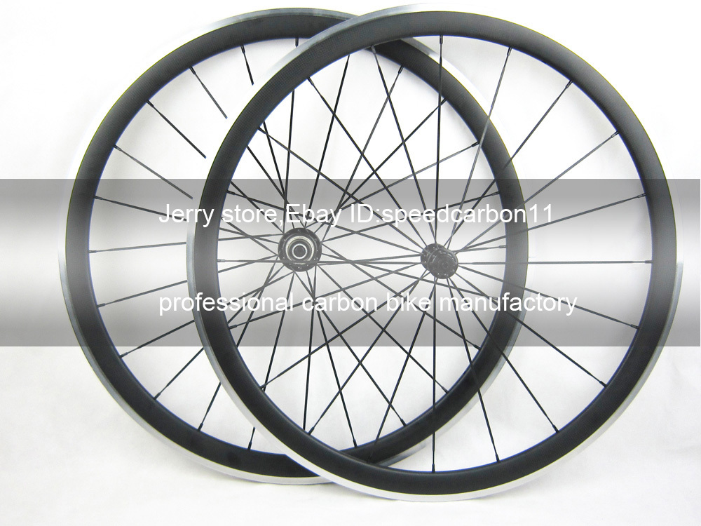 1585g Shiman 11 Speed Carbon Wheel Set 38mm With Alloy Brake 700C High Quality