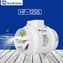 Hon&Guan 5 Extractor Exhaust Fan Mixed Flow Ventilation System Exhaust Air for Bathroom Kitchen Inline Duct Fan; HF-125S sxdool 6 6inch 150mm room ventilation inline duct mixed flow fan 510cmh 300cfm 110 120vac 220 240vac 4200rpm speed control