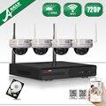 Anran nvr 4ch plug and play cctv sistema de câmera sem fio 720 P HD IR Ao Ar Livre Kit de Vigilância de Vídeo De Segurança WI-FI 1 TB HDD