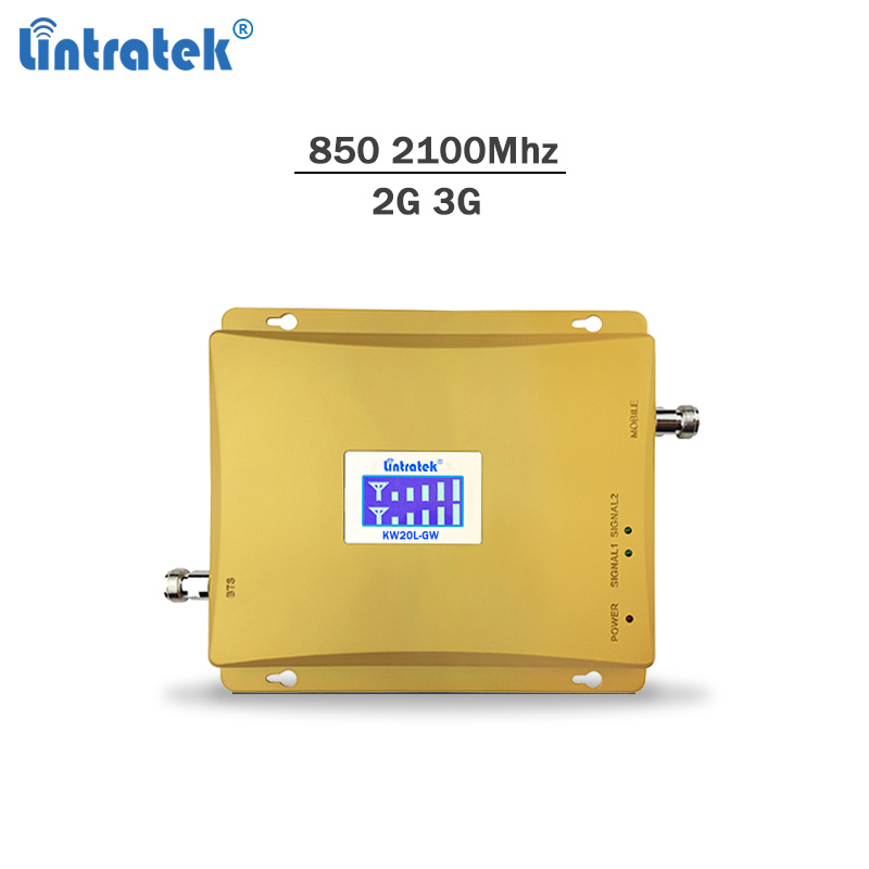 Lintratek signal repeater gsm 3g <font><b>850</b></font> 2100Mhz celular signal booster GSM <font><b>850</b></font> 3G <font><b>2100</b></font> Mobile phone amplifier full kit #6.8 image