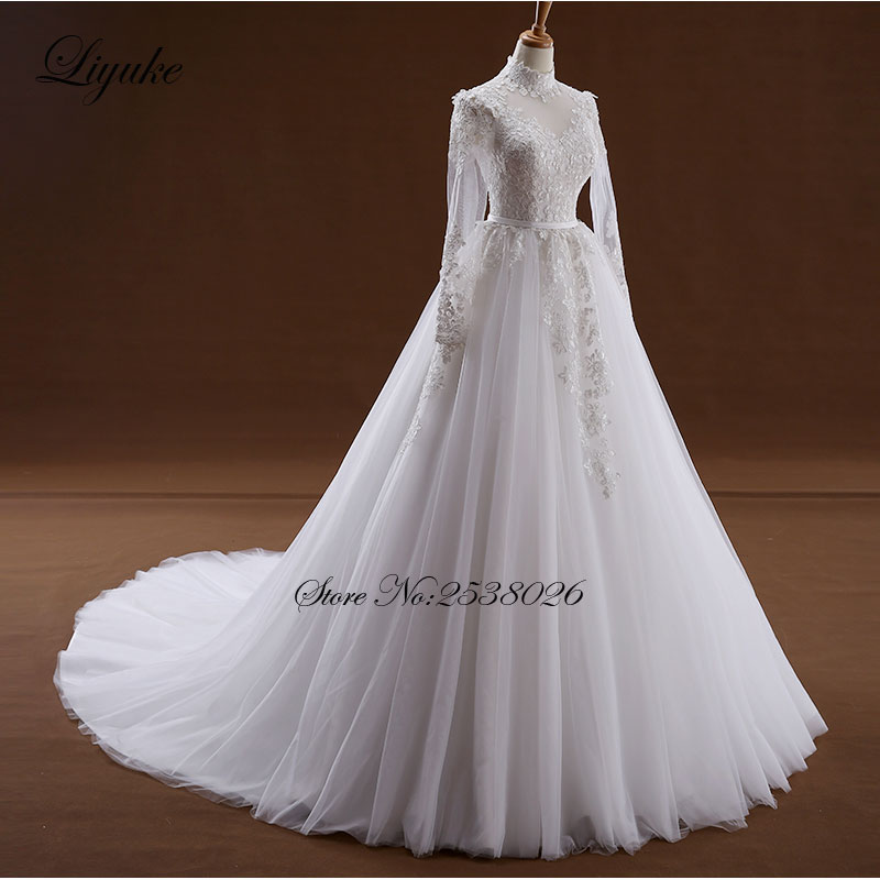 Erstaunlich Elegante O Ausschnitt Ivory Farbe A linie Brautkleid ...