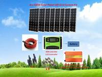 800W Solar Panel Plate Sunpower Monocrystalline Silicon Cell Module Kit with 60A Solar Charge Controller 3000W Power Inverter