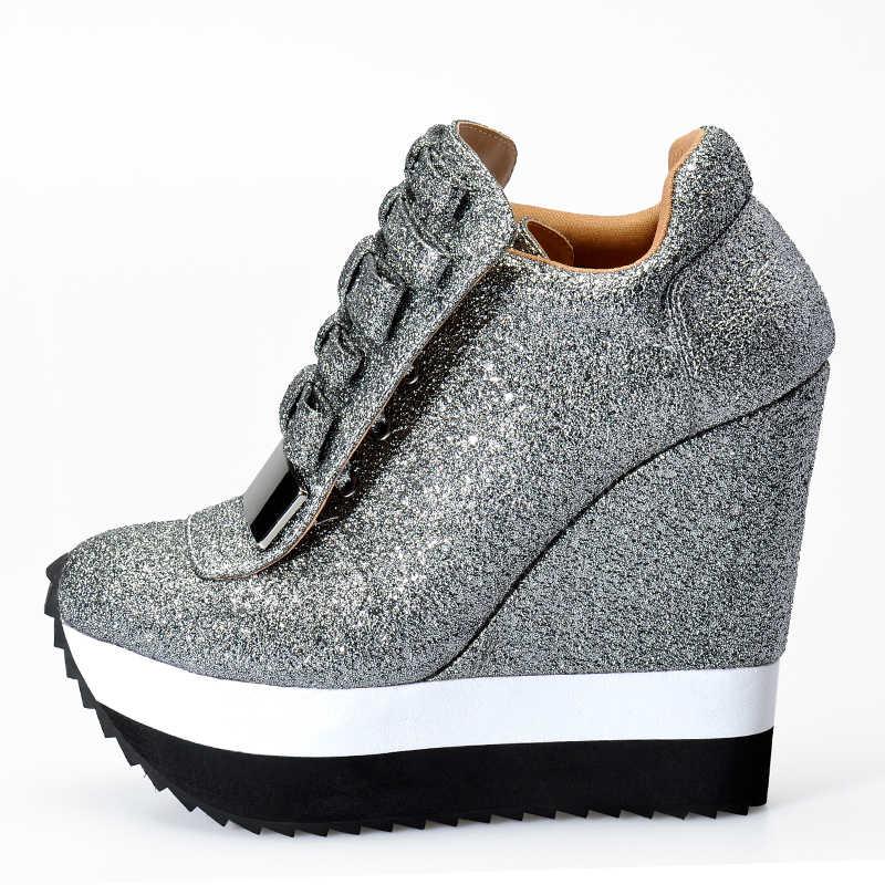 fbcb9b8f Sinsaut Shoes Women Height Increase Pumps Women Autumn Winter Shoes High  Heels Trending Color Unique Design Sneakers