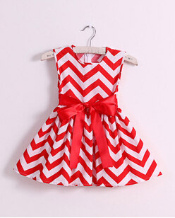 baby girls chevron dress princess party stripe dress