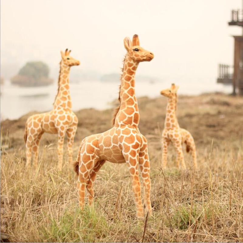 95cm Real Life Animal Giraffe Plush Toy Animal Kawaii Big Soft Toy New Year Decor Toys for Boys Kids Toys Juguetes Brinquedos