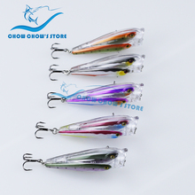 купить New Arrival!! 5PCS/lot Brand CC Popper Fishing Lure Swimbait Wobbler Bass Lure camarao artificial Pesca leurre 7.5cm 12.5g по цене 3037.72 рублей