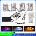 Auo 4X88-LED Âmbar Cautela Aviso De Emergência Da Polícia Pisca Strobe Luzes W/Suporte De Montagem + Módulo de Controle Definido Para Carro caminhão