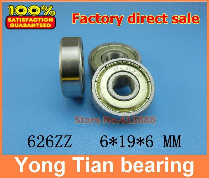 10pcs free shipping Miniature deep groove ball bearing 626ZZ 626-2RS 6*19*6 mm
