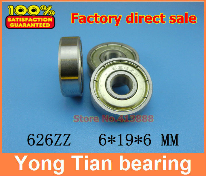 10pcs free shipping Miniature deep groove ball <font><b>bearing</b></font> 626ZZ 626-2RS 6*19*6 mm image
